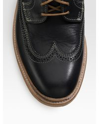 Frye | Black James Wingtip Oxfords for Men | Lyst