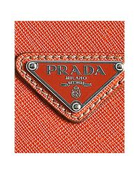 Prada | Orange Papaya Saffiano Leather Travel Portfolio Case for Men | Lyst