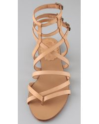 RED Valentino | Pink Flat Thong Gladiator Sandals | Lyst