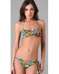 Rosa Cha | Green Floral Bikini Top | Lyst
