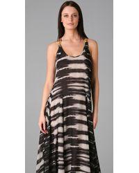 L.A.M.B. - Brown Print Long Dress - Lyst