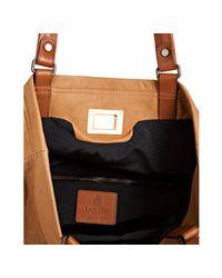 Lanvin - Natural Middle Beige Lambskin Reflex Shopping Sac - Lyst