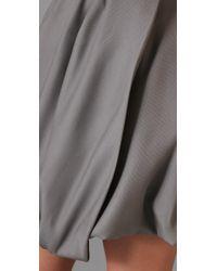 Porter Grey   Gray Strapless Dress   Lyst