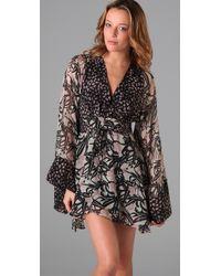 Winter Kate - Multicolor Double Print Kimono Dress - Lyst