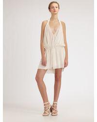 Alexander Wang | White Halter Neck Dress | Lyst