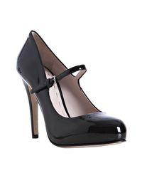 Miu Miu | Black Patent Leather Mary-jane Pumps | Lyst