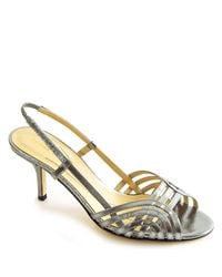 kate spade new york | Mode - Pewter Leather Metallic Sandal | Lyst