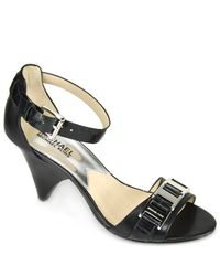 MICHAEL Michael Kors | Greta - Black Leather Sandal | Lyst