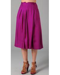 Rachel Roy | Purple Swing Skirt | Lyst