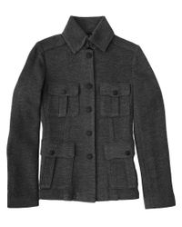 Rag & Bone | Gray Knit Safari Jacket | Lyst
