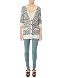 Rag & Bone | Blue Terry Cardigan | Lyst