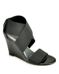 Stuart Weitzman | Extend - Black Elastic Sandal | Lyst