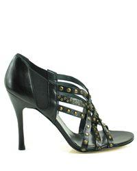 Stuart Weitzman - Black Fullup - Studded High Heel Sandal - Lyst