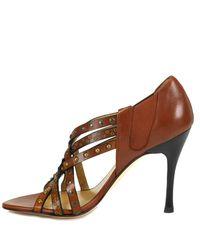Stuart Weitzman | Brown Fullup - Studded High Heel Sandal | Lyst