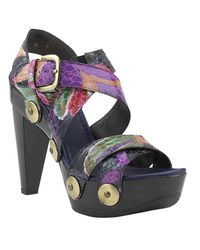 Stuart Weitzman | Multicolor Face Up - Multi Snake Platform Sandal | Lyst