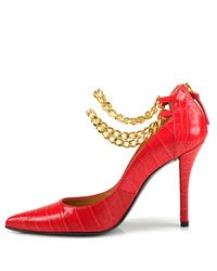 Stuart Weitzman - Red Lovechains Shoe - Lyst