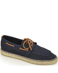 Tory Burch - Blue Loafer Espadrille - Navy Canvas Closed Espadrille - Lyst