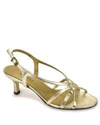 Vaneli | Metallic Modesta - Gold Leather Sandal | Lyst