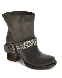 Vera Wang Lavender | Casey - Brown Leather Jeweled Boot | Lyst