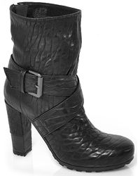 Vic Matié | Black Leather Bootie | Lyst