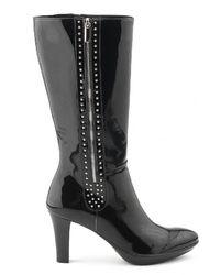 Aquatalia   Ramona - Black Patent Leather Boot   Lyst