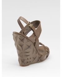 Ash | Natural Marilyn Wedge Sandals | Lyst