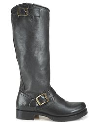 Frye | Black Veronica Slouch Boots | Lyst