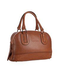Longchamp | Brown Cognac Pebbled Calfskin Cosmos Medium Handbag | Lyst