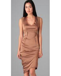 VPL | Brown Drop Curvate Dress | Lyst