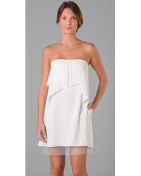 BCBGMAXAZRIA - White Fei Fei Strapless Dress - Lyst