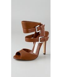 Camilla Skovgaard | Brown Buckle Strap High Heel Sandals | Lyst