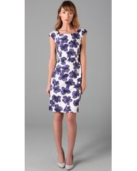 MILLY | Purple Katrina Sheath Dress | Lyst