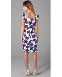 MILLY - Purple Katrina Sheath Dress - Lyst