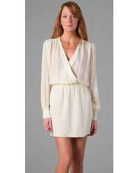 Parker - White Wrap Dress - Lyst