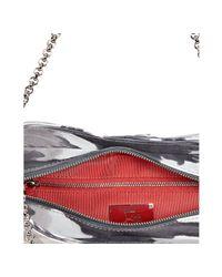 Christian Louboutin - Gray Grey Tie Dye Suede Bikini Chain Link Shoulder Bag - Lyst