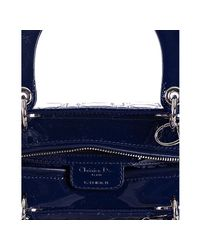 Dior - Blue Cannage Patent Lady Lambskin Tote - Lyst