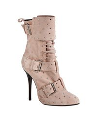 Giuseppe Zanotti | Pink Crystal-embellished Suede Boots | Lyst