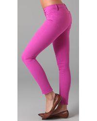 J Brand | Purple Skinny Coloured Jeans Fuschia | Lyst