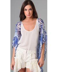 Jen Kao | Blue Desert Grazer Kimono Shrug | Lyst