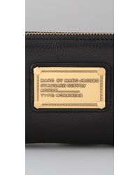 Marc By Marc Jacobs Black Classic Q Large Zip Around Wallet