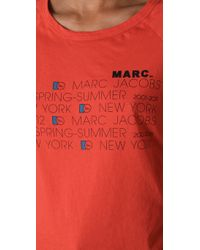 Marc By Marc Jacobs - Orange 10th Year Anniversary Tee - Lyst