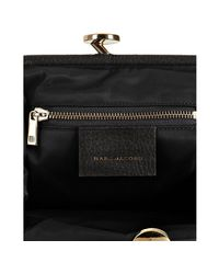 Marc Jacobs - Black Quilted Nylon Little Stam Kisslock Chain Shoulder Bag - Lyst