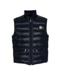 Moncler Blue Quilted Body Warmer for men