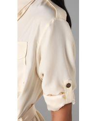 Rag & Bone - White Ohara Shirtdress - Lyst
