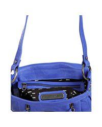 Rebecca Minkoff - Blue Leather Beloved Mini Cross Body Bag - Lyst