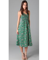 Rebecca Taylor | Green Sleeveless Nouveau Ballet Dress | Lyst