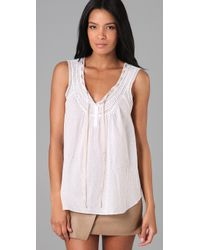 Rebecca Taylor | White Embroidered Tank | Lyst