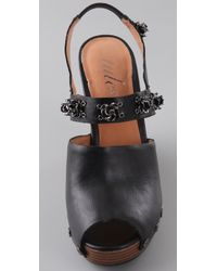 Tuleste | Black Brooke Clog Wedge Sandals | Lyst