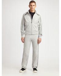 Zegna Sport - Gray Track Jacket for Men - Lyst