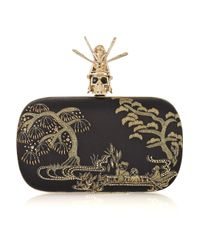 Alexander McQueen | Multicolor Sequined Box Clutch With Fringe - Black | Lyst